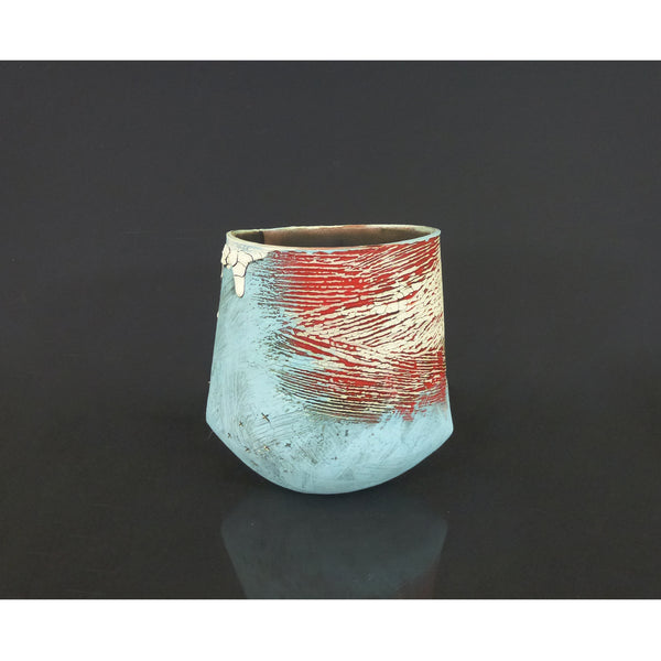 Lesley McInally - Blue & Red Vessel