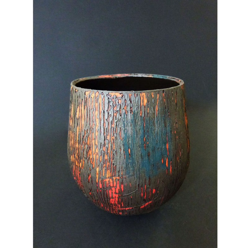 Lesley McInally - Peacock & Orange Vessel