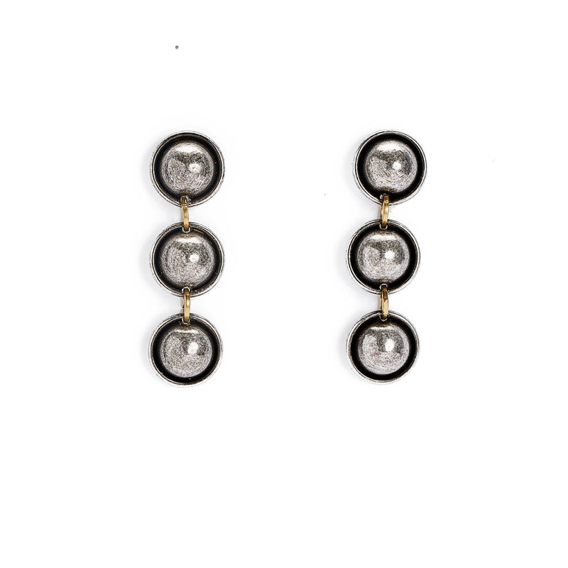 Michelle Ross- Evie Antique silver earrings