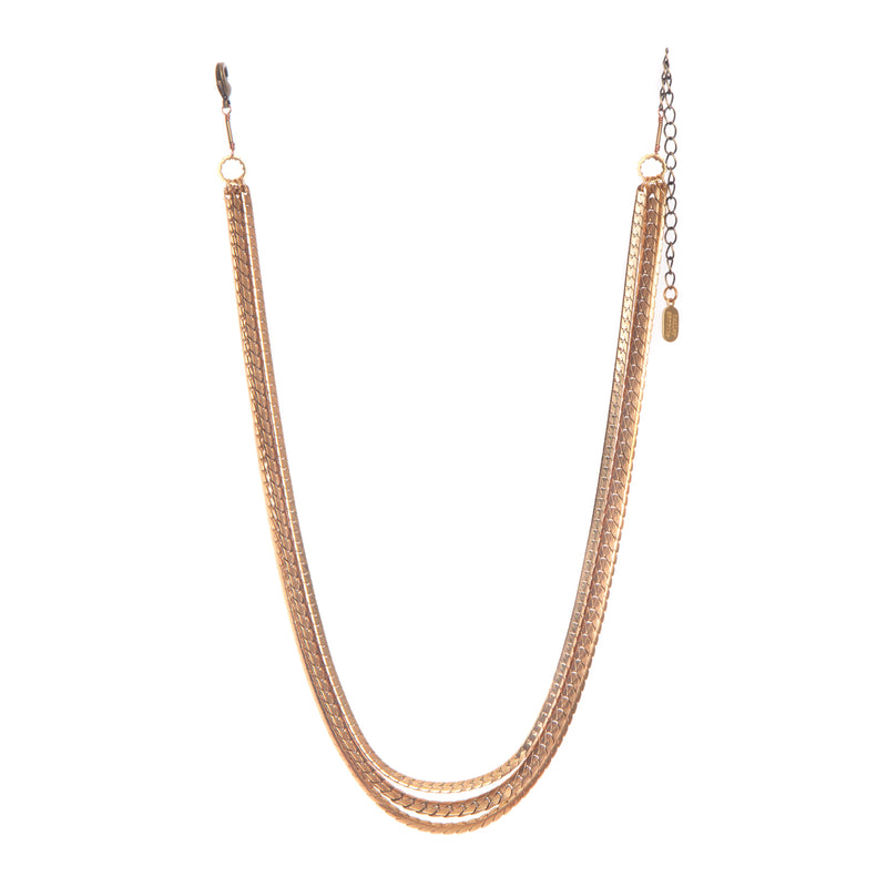 hailey gerrits large mixed chain necklace