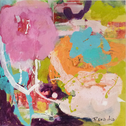 "Rachel Ovadia - Abstract Flora I 12"" x 12"""
