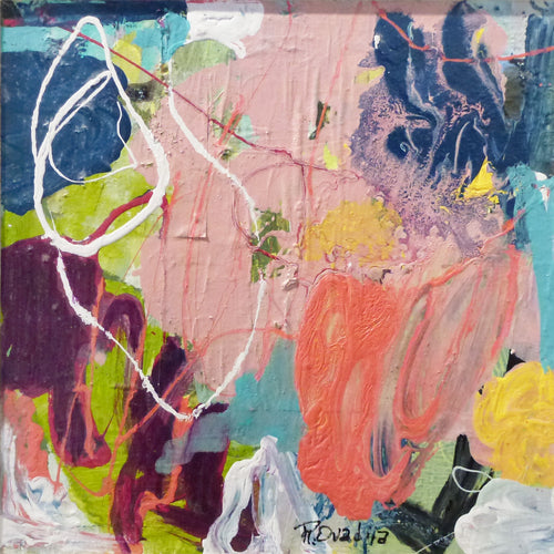"Rachel Ovadia - Abstract Flora III 12"" x 12"""