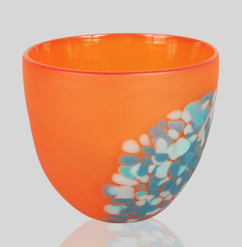 Alexi & Mariel Hunter - Frit Bowl Orange & Aqua