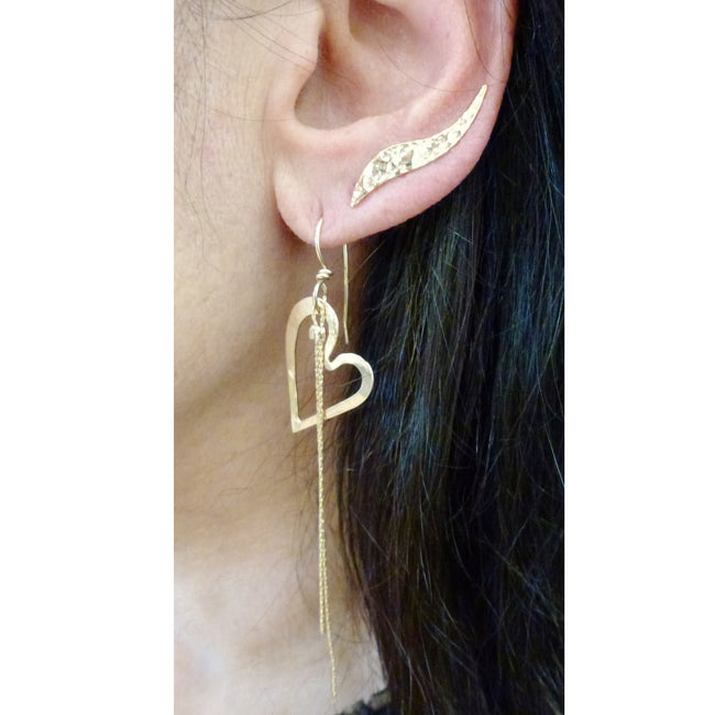 Moshe Sternberg - Heart Earrings