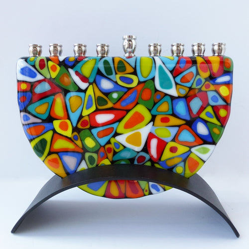 Small Multi Coloured Menorah