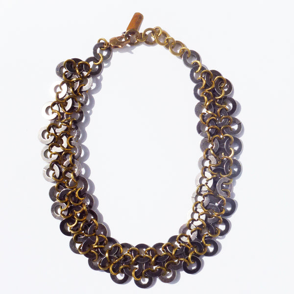 Michelle Ross - Neema Antique Silver Necklace