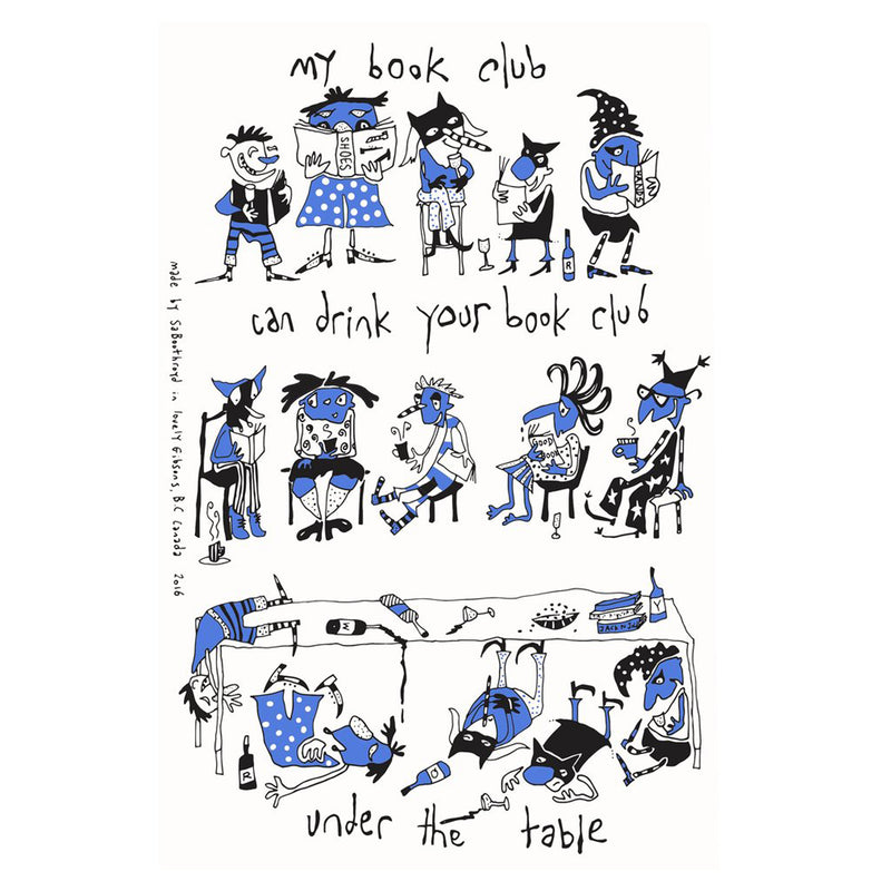 Sa Boothroyd - Book Club Teatowel