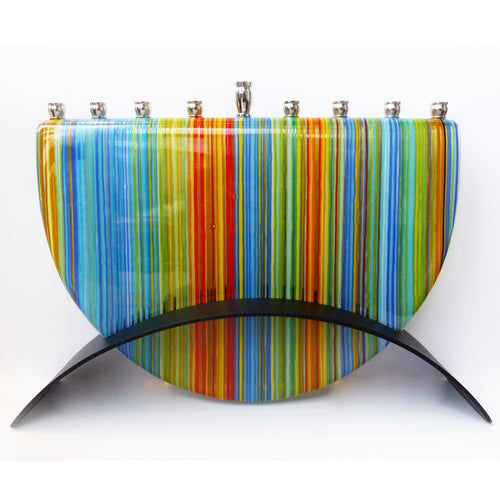 Marie Levine - Stripes menorah