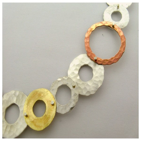 Yair Stern- Gold and Silver Circle Necklace