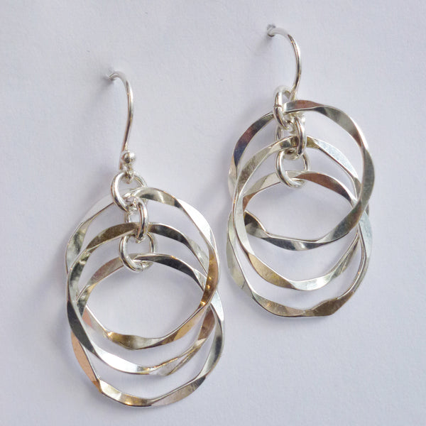 Yair Stern - Small Geometric Three Circle Earrings