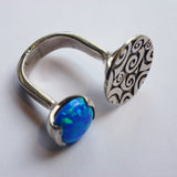 Yair Stern - Open Ring with Opal