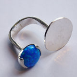 Yair Stern - Smooth Open Ring with Opal