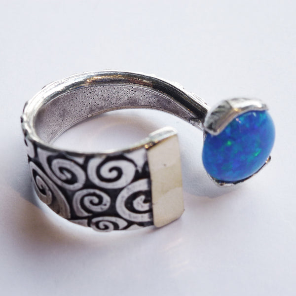 Yair Stern - Abstract Ring with Opal