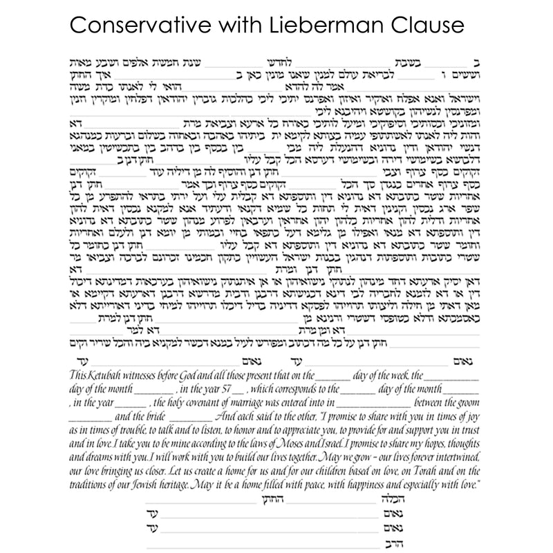Joanne Fink - Conservative with Lieberman Clause Text