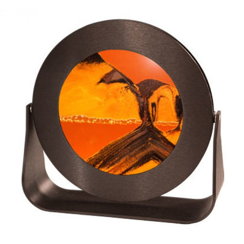 William Tabar - round black metal sunset orange