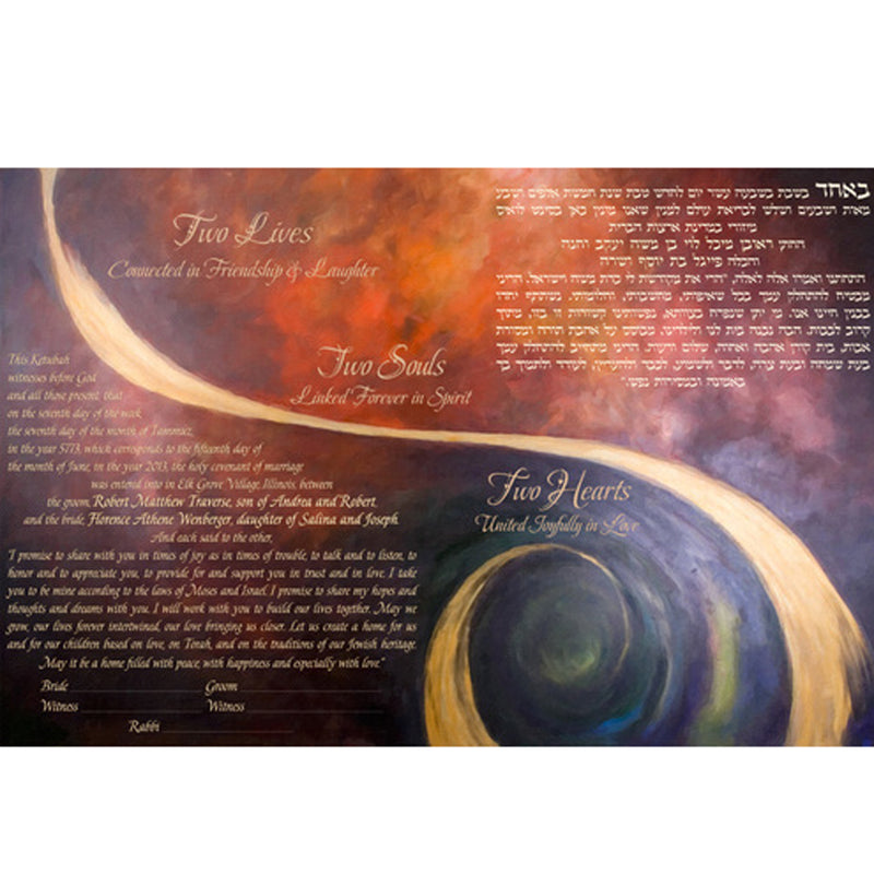 Joanne Fink - Two Hearts Ketubah