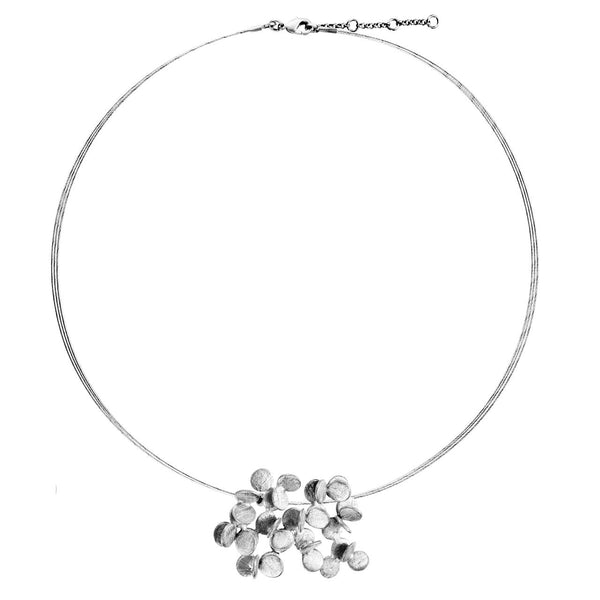 Joid'art - Cluster Circle Silver Necklace