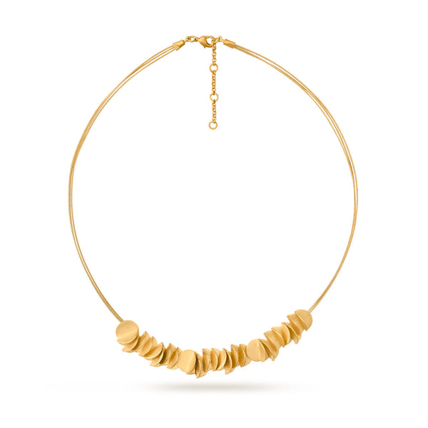 Gold Fold Circle Necklace