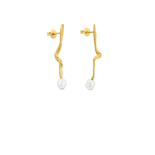 Joid'art - Bliss Small Gold Earrings with Pearl