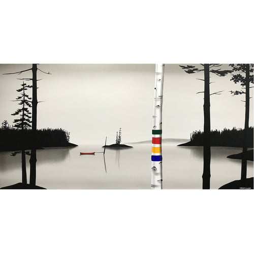 "Natasha Miller - Lake Days 24"" x 48"""