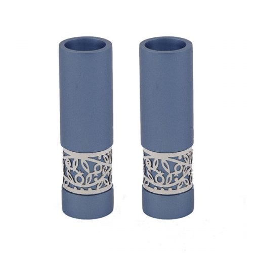 Yair Emanuel - Candlesticks Metal Cutout Blue