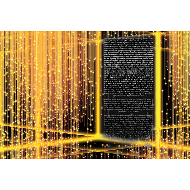 TINAK - Light Strings Ketubah