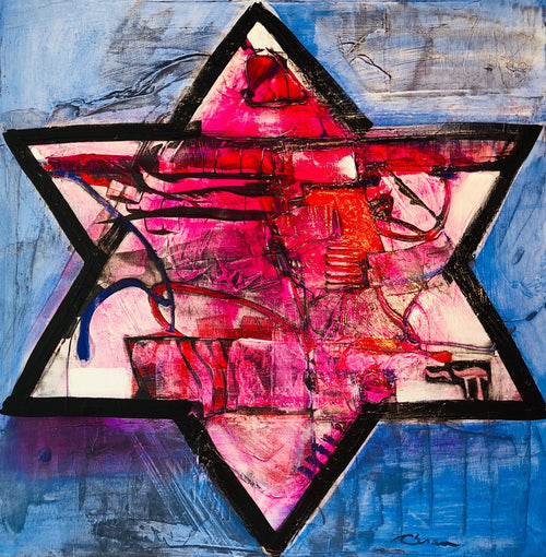 "Promise Star of David #19  24"" x 24"""