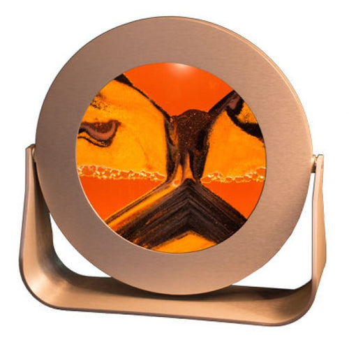 Round Silver Sunset Orange