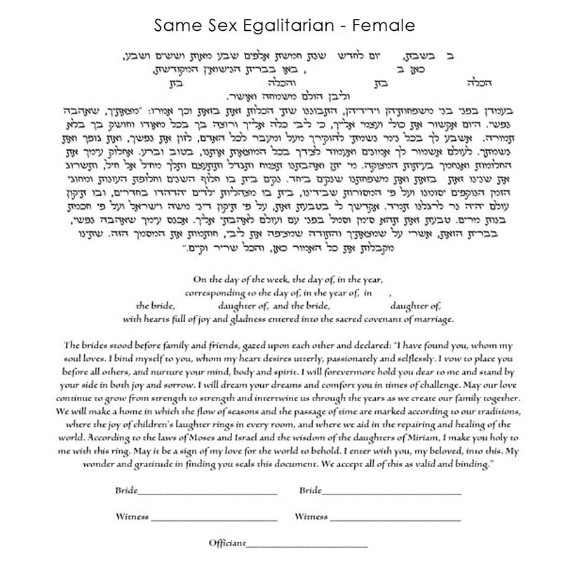 Tamara Jones - Same Sex Egalitarian Female Text