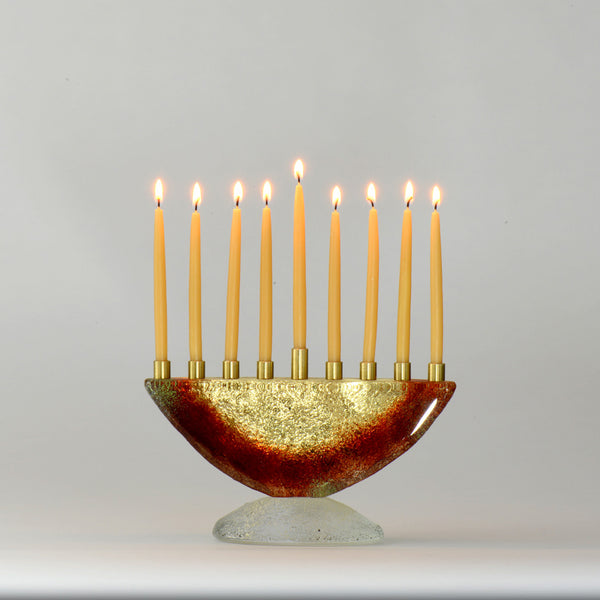 Diane Ferland- Small Contemporary Menorah - Red