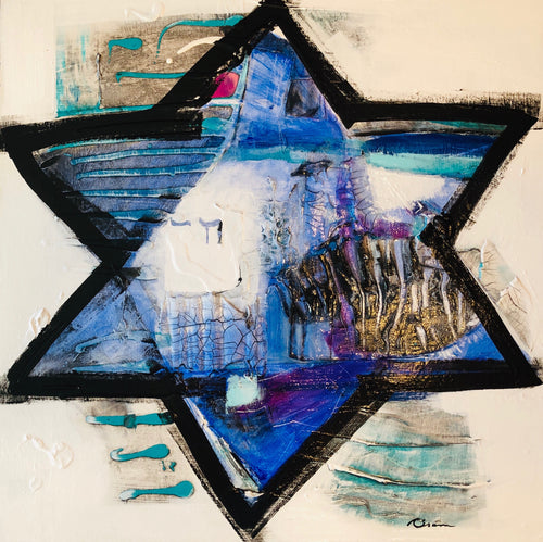 "Message Star of David #21  24"" x 24"""