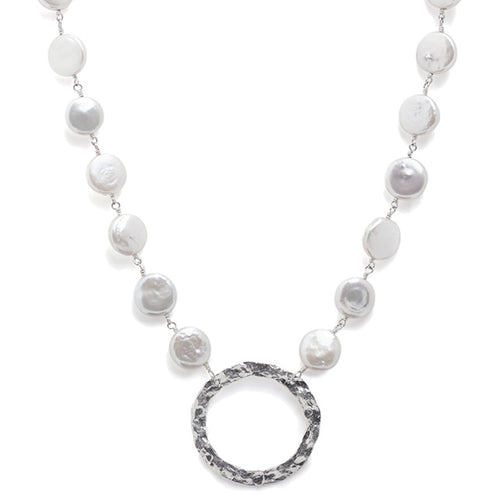 Gill Birol - Circle Necklace with Pearls