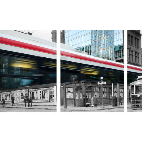 "King & Simcoe Triptych 33"" x  54"""