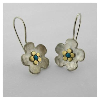 Two flower earrings