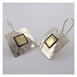 large two square earrings