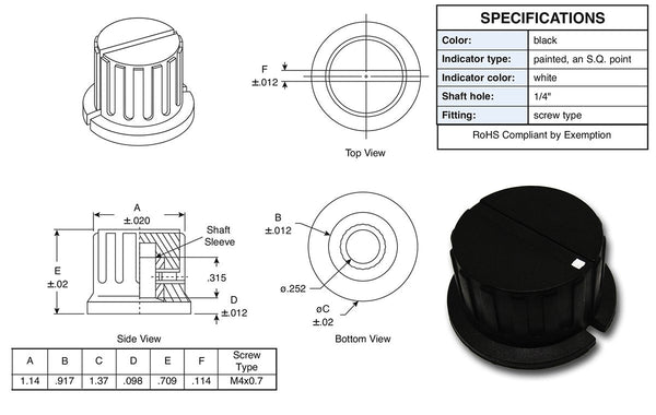 Fulltone Large Speed Knob (LSK)