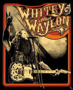 """Whitey plays Waylon"" Poster - Signed and Numbered"