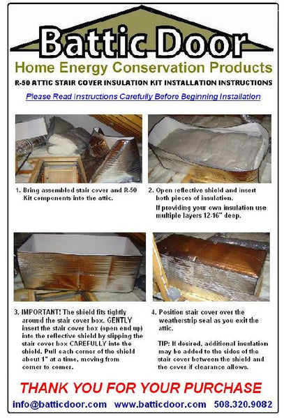 Attic Stair Insulated Cover 22x54 R 50 Battic Door