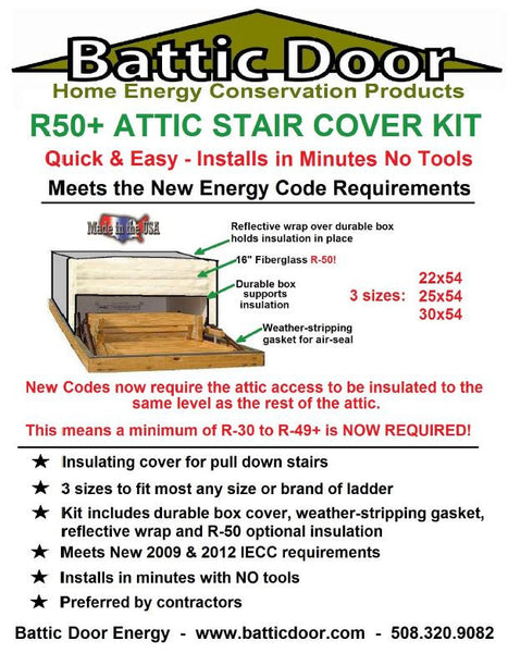 ... Attic Stair Insulated Cover 25x54 R-50 ...  sc 1 st  Battic Door Home Energy - Shopify & Attic Stair Insulated Cover 25x54 R-50 \u2013 Battic Door Home Energy