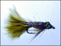 Leaded Eyed Marabou Damsel Nymph Lt Olive
