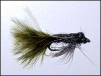 Leaded Eyed Marabou Damsel Nymph Dark Olive