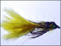 Leaded Eyed Marabou Damsel Nymph Golden Olive