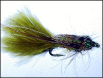Leaded Eyed Marabou Damsel Nymph Medium Olive