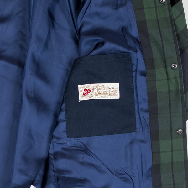 ABORRE waxed cotton coach jacket - black watch Tartan British Millerain®