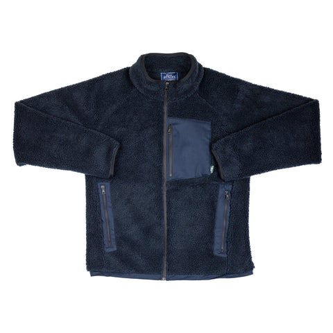 SMOOTHIE TEDDY FLEECE jacket - navy blue