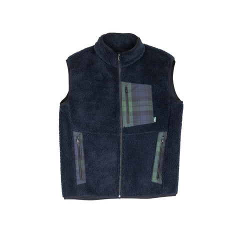 SMOOTHIE TEDDY FLEECE vest - navy blue / British Millerain®