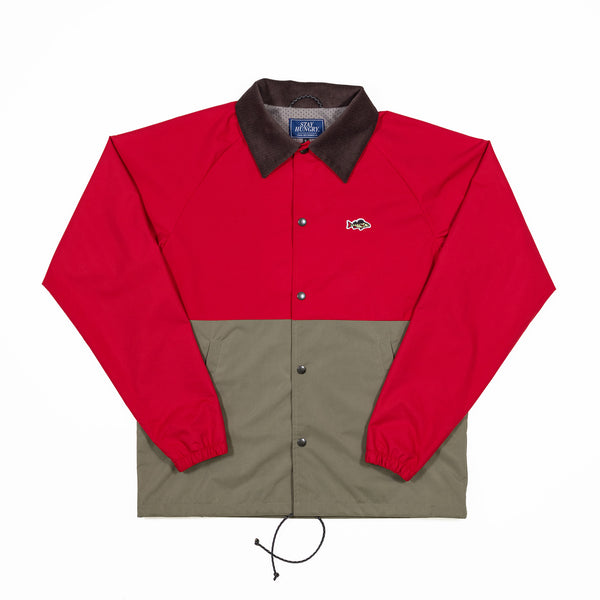 ABORRE colorblock coach jacket - red, khaki