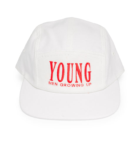 YMGU® embroidery - 5 panel cap - white