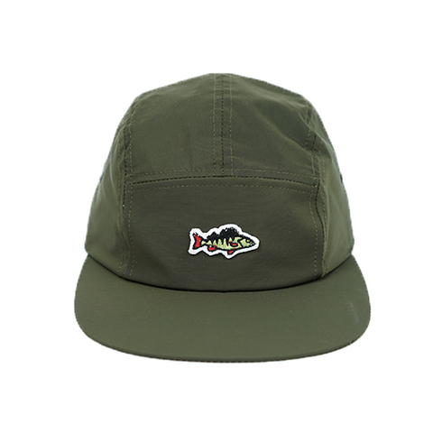ABORRE 5 panel cap - forest green water-resistant