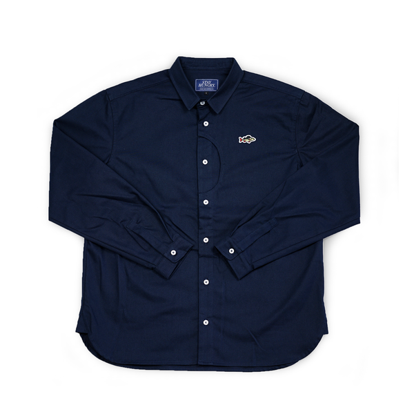 ABORRE CLASSIC button down shirt – navy cotton